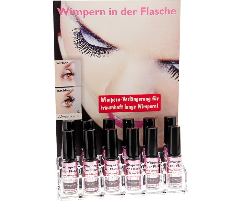 WIMPERN IN DER FLASCHE DISPLAY