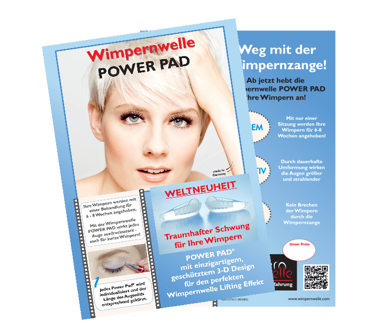 KUNDENFLYER WIMPERNWELLE LIFTING POWER PAD