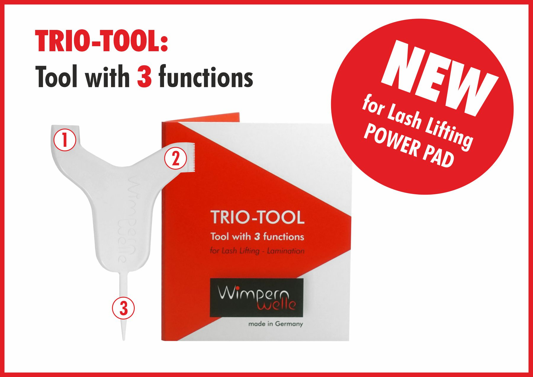 NEW: TRIO-TOOL for Lash Lifting POWER PAD